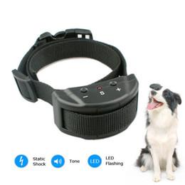 Wholesale Training Shock Ultrasonic - NEW ELECTRONIC AUTO ANTI-BARK DOG TRAINING SHOCK COLLAR Stopping Nuisance Barking,100 % Test Hot Free shipping