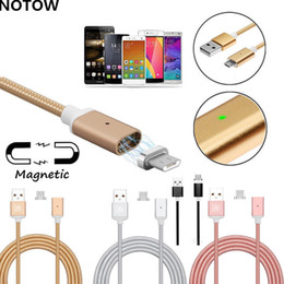 Wholesale Micro Usb Mobile Phone Cable - nylon woven high quality 2.4a micro usb charging cable high speed magnetic adapter for 3.1 type-c android Mobile phone