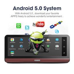 "Wholesale Memory Sd 4g - Pro 4G Car Camera GPS 7.8"" Android 5.1 ADAS Car DVR WIFI Video Recorder Registrar dash cam DVR Parking Monitoring"