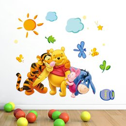 Wholesale Wall Decal Winnie - Free Shipping Winnie the Pooh Removable Home Decor Wall Decal Sticker for Kids Nursery Decoration hot