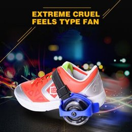 Wholesale Kids Sports Shoes Wholesale - Children Scooter Kids Sporting Pulley Lighted Flashing Roller Wheels Heel Skate Rollers Skates Wheels Shoe Skate Roller CCA7558 40pair