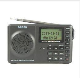 Wholesale Degen Dsp Radio - Wholesale-English Version DEGEN DE1129 Radio FM MW SW Radio Multiband Portable Intelligent LED STEREO Radio DSP Receiver MP3 Player 3 Band