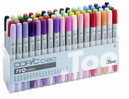 Wholesale Wholesale Copic Markers - The Third generation copic ciao marker pens COPIC Copic Ciao Sketch pen comic Hand-painted art painting pens 72 A colors gift pen bags