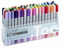 Подарки поколениям онлайн-Третье поколение copic ciao маркер ручки COPIC Copic Ciao эскиз pen комиксов ручная роспись искусство живопись ручки 72 цвета подарок pen сумки