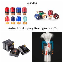 Wholesale Patents Products - Vaporam Anti-oil Spill Epoxy Resin Drip Tip Patented Products Colorful Wide Bore Drip Tips 510 Mouthpiece for 510 Thread Atomizer Vape DHL