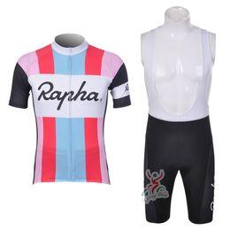 2019 camisetas de ciclismo baratos RAPHA team Summer Cycling Jerseys Ropa Ciclismo Transpirable Ropa de moto de secado rápido Bicycle Sportwear GEL Pad Bike Pantalones babero F2102