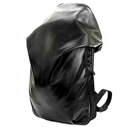 Wholesale Motorcycle Laptop - Wholesale- School Black Backpack PU Motorcycle Backpack for Male Fashion Europe Laptop Bag 14 inch Waterproof Travel Bag