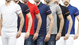 Wholesale Embroidery Polos - Summer The French Famous Brand Man POLO Shirts Cotton Embroidery Short Sleeve Polo Shirts for Men Freeshiping