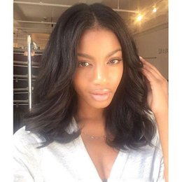 Wholesale Brown Wavy Malaysian Hair - Wavy Lace Front Human Hair Bob Wigs for Black Women Peruvian Glueless Lace Front Wigs with Baby Hair