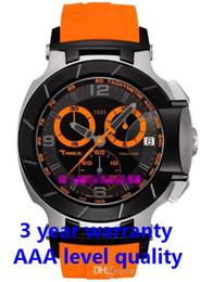 Relogio raça t on-line-T048 relógio de quartzo T048.417.27.057.04 T Sport-T-Race dos homens frete grátis MotoGP Preto Laranja cronógrafo T0484172705704