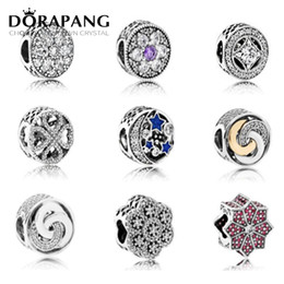 Wholesale Fashion Sterling Silver Beads - DORAPANG 2017 NEW Round Shape 925 Sterling Silver Fashion Jewelry Making DIY Bead For Cz Compatible With For Charms Bracelet Love