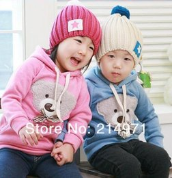 Wholesale Toddler Girls Coats Sale - Wholesale- hot sale ! free shipping!! baby clothing  Toddler  kids bear Sweater  coat Sweater Girls Hoodies kids hoodies fashion hoodies