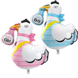 Wholesale Inflatable Baby Shower Decorations - 10pcs Lovely baby shower ballons Grane baby boy baby girl helium foil balloons inflatable birthday party decorations kids toys