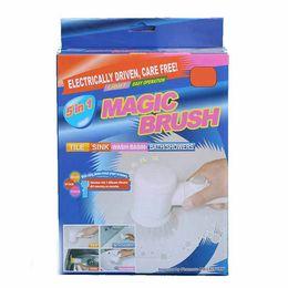 Wholesale Electric Magic Brush - 5 IN 1 Magic Brush Electric bathtub Cleaning Brushes Household Tile Sink Wash Basin Bath Showers