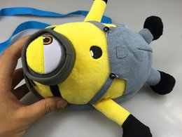 Wholesale Despicable Stuffed Minions - 1PCS Kawaii Plush Backpack Minions Despicable Me Dolls & Stuffed Toys Bags for Children School Bag
