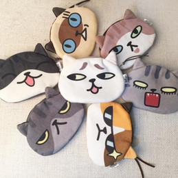 Wholesale Girls Pussy - Cat Coin Purses Fashion Clutch Purses Cosmetic Bag Wallet Change Purse Pussy Wallet Small Coin Key Holders Girls handbag