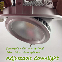 Wholesale Downlight Frame - Wide Frame Design High Power Round Downlight 20W 30W 40W High Ceiling Recessed Lamp,Adjustable & Rotational