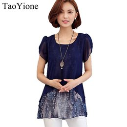 Wholesale Short Sleeve Shirt Office - New Chiffon Blouse 2017 Summer Women Blouses Casual Tops Short Sleeve Office Shirts Plus size Blusas Feminina Ladies Clothing 17606
