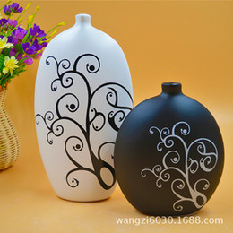 Wholesale Souvenir Angels - 2044 Romantic Rhynchophylla Applique Low Temperature Flower Matte Ceramics Vase Arts And Crafts