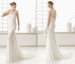 Wholesale Cheap Unique Satin Gowns - 2018 Mermaid Lace Wedding Bridal Dresses Custom made Cheap Gown For Women Iullsion Sheath Sweep Train Unique Design Charming Beautiful