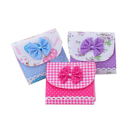 Wholesale Grey Napkins - Wholesale- flama Girl Cotton Diaper Sanitary Napkin Package Bag Storage Organizer New Casual Candy Color Bags Free Shipping Miya Lin 2017