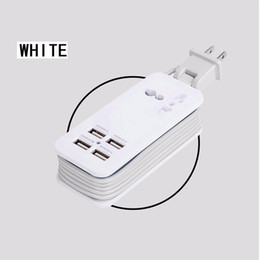 Wholesale Universal Power Extension - Fast Charging 4 Ports Wall Socket Universal USB Power Strip Portable Charger Travel Adapter Extension Cord Cable EU US Plug