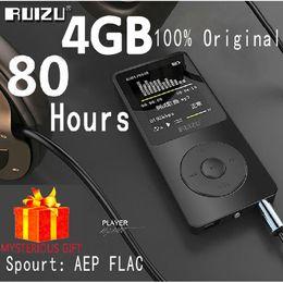 Wholesale Sports Mps Player - Wholesale- Ruizu X02 Lossless Flac Car Portable Mini Hifi Digital Sport Audio Screen Mp 3 Music Mp3 Player 4GB Radio FM Support TF Micro SD