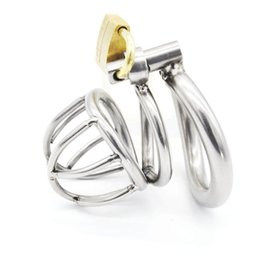 Wholesale Bdsm Steel - Male Chastity Device Stainless Steel Metal Cock Rings Penis Cage BDSM Sex Toys For Men Chastity Devices Cock Cages