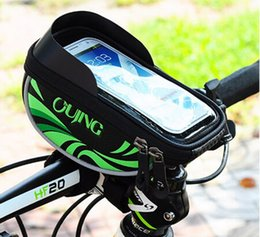 """Wholesale Top Tube Bag Phone - Waterproof Mobile Phone Case Pouch Bag Bike Bicycle Front Tube Top Frame Handlebar Cycling Bag For 5.5"""" Phone"""