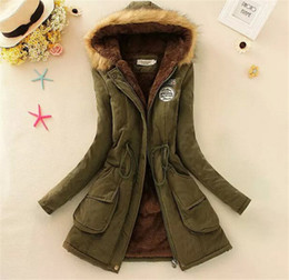 Wholesale women down parka fur lined - women down parkas lady winter clothing girl's outerwear Faux fur lining women's fur jackets Overcoat coat coats Tops