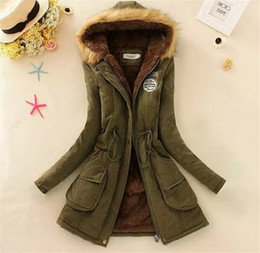 Wholesale ladies grey down winter coat - women down parkas lady winter clothing girl's outerwear Faux fur lining women's fur jackets Overcoat coat coats Tops
