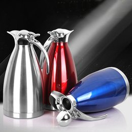 Wholesale Stainless Steel Kettle Set - 2 Liters Vacuum Coffee Pot Heat-Resistant Coffee Tea Set pot four colors can be selected stainless steel material