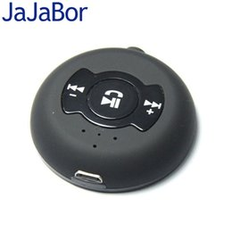 Wholesale Car Speakers Set - Wholesale-Universal Black Wireless Car Kit Set Multi-point Bluetooth 4.0 3.5mm Stereo Handsfree Receiver Adapter Speaker