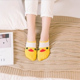 Wholesale Cheap Invisible Socks - Wholesale- Cute cat boat socks women summer animal funny socks girls cartoon low cut sweet sokken invisible candy slippers cheap sox