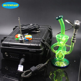 Wholesale D E - Heady D electric nail kit E digital Nail Coil PID Dab rig with Glass bong Honeycomb percolator Bongs Oil Rigs
