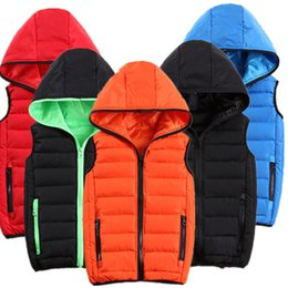 Wholesale Mens Vests Xs - Cheapest Mens Warm Vest Waistcoat Winter Jackets Coats Sleeveless Hoodies Thickening Outwear Overcoat Plus Size 2XS-3XL High Quality