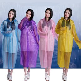 Wholesale Travel Emergency Poncho - 200pcs Disposable Raincoat Adult Emergency Waterproof Hood Poncho Travel Camping Must Rain Coat Unisex Wholesale