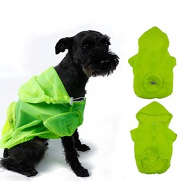 Wholesale Summer Dog Raincoat - Pet Supplies Dog Nylon Raincoat Soft Comfort Dogs Clothes Waterfproof Sun UV Protection Cloth Blue Green Pink Colors 6 Sizes--S M