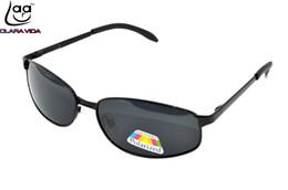 Wholesale Custom Made Sunglasses - Wholesale- =CLARA VIDA= Custom Made Nearsighted Minus Prescription Sunglasses Polarized mens Small square frame non-slip Foot Case-1 To -6