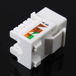 Wholesale Wholesale Network Jacks - Wholesale- 5Pcs lot CAT6 RJ45 110 Punch Down Keystone Network Ethernet Jack Top Quality