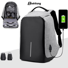 Wholesale Nylon Notebook - Boshikang 2017 XD Design City Anti-theft Computer Backpack Men Notebook Backpack 15 inches Waterproof Travel Student School Bags