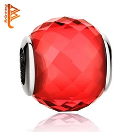 pandora charm vetro rosso