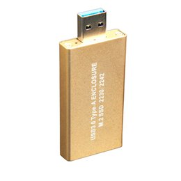Wholesale Boxes For Flash Drives - Wholesale- USB 3.0 Type A To NGFF SSD Hard Protable Box 10GB Pen Drive For 2230 2242 USB Flash Drives Memory U Disk Storage