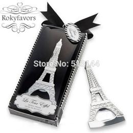 Envío gratis 100 UNIDS Torre Eiffel abridor de botellas Favors Barware favores de la boda nupcial ducha Ideas de boda regalos de recuerdo desde fabricantes