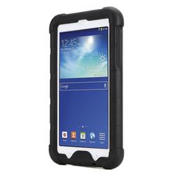 capas de ipad da prova da criança Desconto MingShore Bumper Silicone Case Com Born Handstrap para Samsung Galaxy Tab 3 Lite 7.0 e Galaxy Tab E Lite 7.0 Caso Robusto