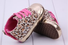 Wholesale Leopard Walking Shoes - Wholesale- Cute Baby Leopard Antislip Shoes Girl Infant Toddler PU Leather Crib Shoes Walking Sneaker Freeshipping