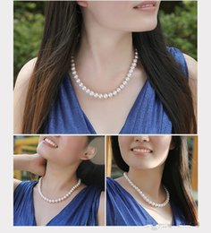 Wholesale Trendy Casual Necklace - Cheap Wedding Bride Jewelry Pearls Luxury Cheap Bride Accessory Wedding Party Wear In Stock Lobster Clasp