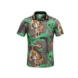 Wholesale Pop Shopping - Foreign Pop Shop New Arrival 2017 Tiger print Summer Men Casual Cotton Polo Shirts Tops Short Sleeve Cotton Italy Men Classic polos