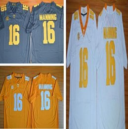 Wholesale New Style Baseball Jerseys - NCAA Hot New Style 2017 Peyton Manning 16 Limited Mens College Football Jersey,Cheap Stitched Tennessee Volunteers Jerseys grey white orange