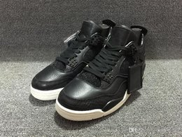 Wholesale Christmas Sail - 2016 Guarantee Men 4 IV RETRO PREMIUM 819139-010 CROC PINNACLE BLACK SAIL Men basketball Shoes Sport Retro 4 Premium Black Size 41-47